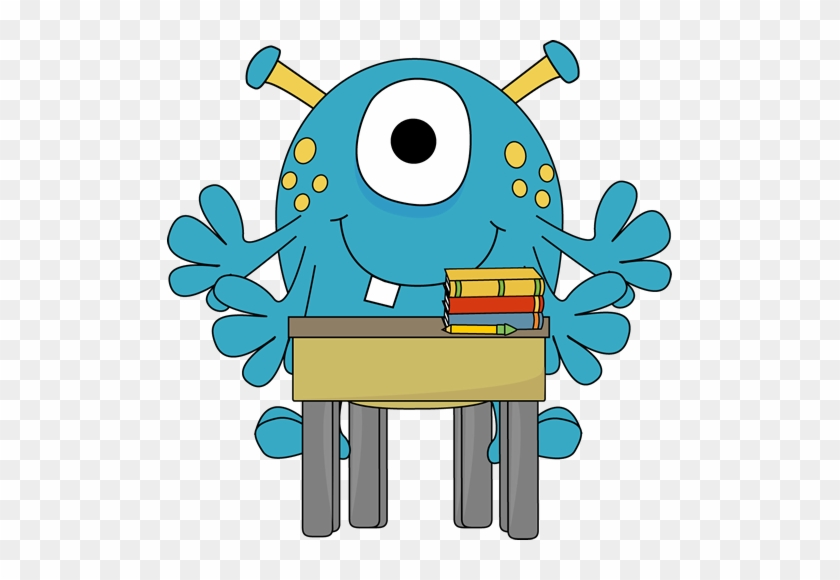 Four Arm Monster At School Desk - Four Arm Monster At School Desk #1598