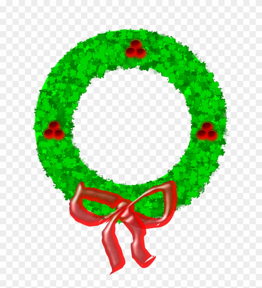 Christmas ~ Phenomenalas Wreath Clip Art Black And - Christmas ~ Phenomenalas Wreath Clip Art Black And #1607
