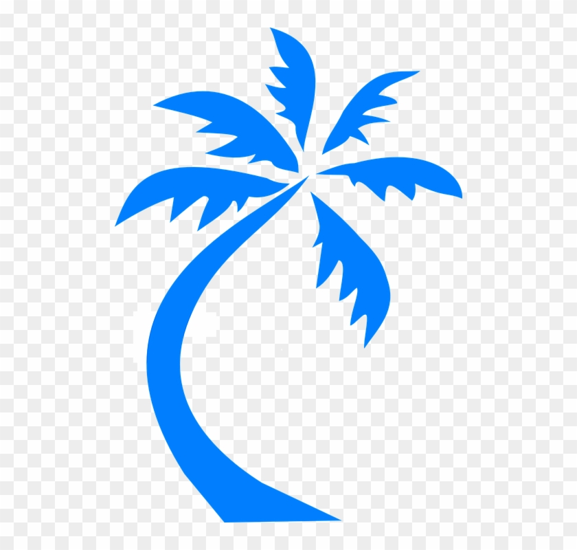 Palm Tree Palm Blue Silhouette Beach Tropical - Palm Tree Palm Blue Silhouette Beach Tropical #1623