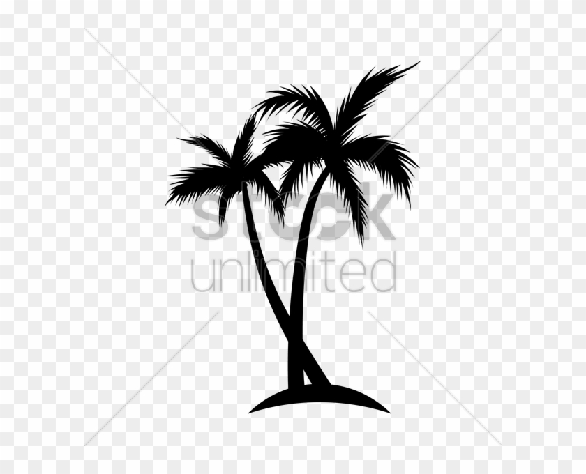 Silhouette Of Coconut Tree Vector Image - Coconut Tree Silhouette Vector Png #1701