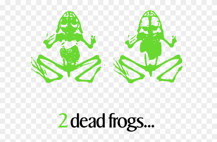 Free Vector 2 Dead Frogs Clip Art - Dead Frog Clip Art #1710