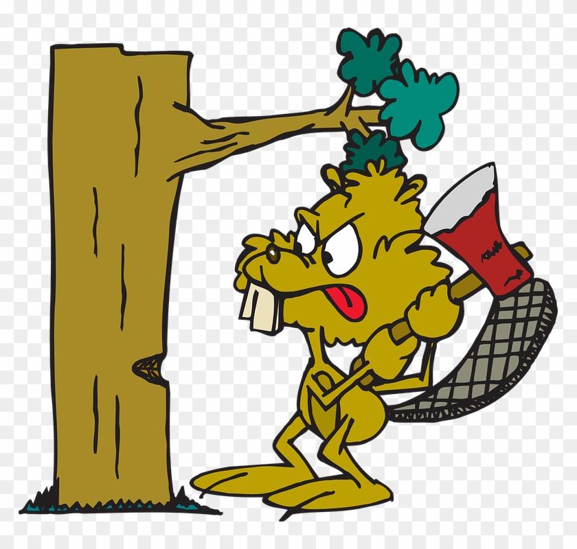 Cutting Down Tree Cartoon #1730