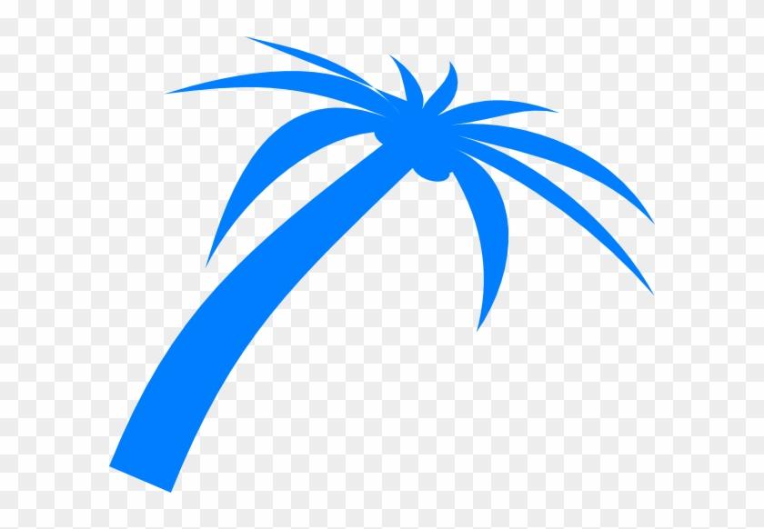 Blue Palm Tree Clip Art At Clker Com Vector Clip Art - Blue Palm Tree Png #1727