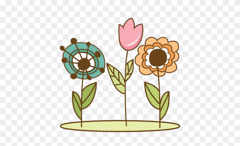 Doodle Flowers Svg Cutting Files Doodle Cut Files For - Flower Doodle Clip Art #1743