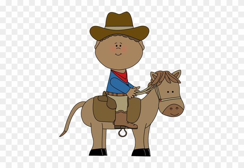 Cowboy On A Horse - Cowboy Clip Art #1754