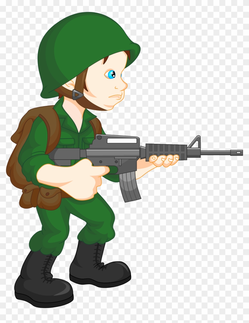 Soldier Army Military Clip Art - Soldier Cartoon #1753