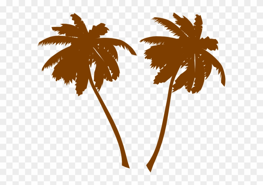 Brown Palm Trees Clip Art - 5'x7'area Rug #1758