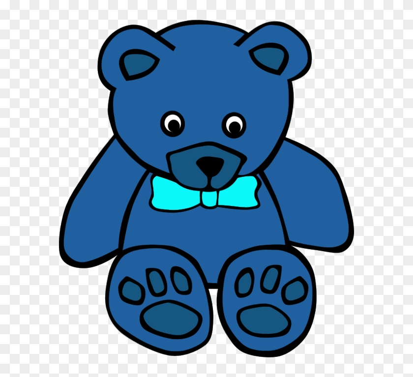 Teddy Bear Clip Art On Teddy Bears And Clipartwiz 7 - Blue Teddy Bear Clipart #1774