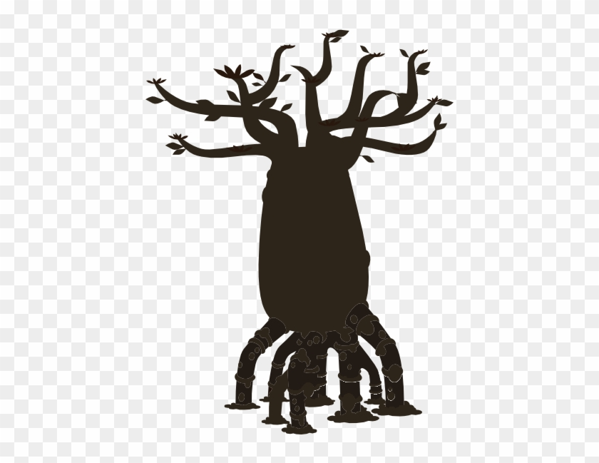 This Free Clip Arts Design Of Firebog Bottle Tree Silhouette - This Free Clip Arts Design Of Firebog Bottle Tree Silhouette #187