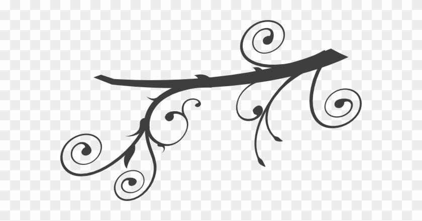 Branch Clipart Swirl - Tree Branch Clip Art #1779