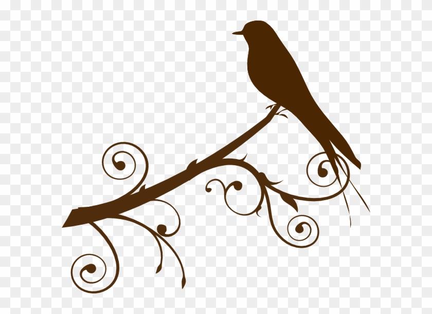 Bird On A Branch Clip Art - Bird On A Branch Clip Art #186