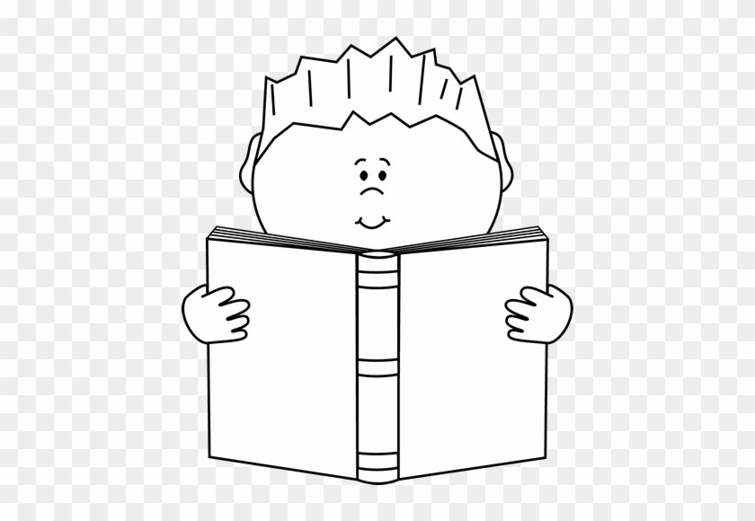 Reading A Book Clip Art Image - Read Clipart Black And White #1798