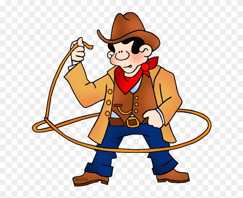 Rodeo Cowboy - Round Up Clip Art #1833