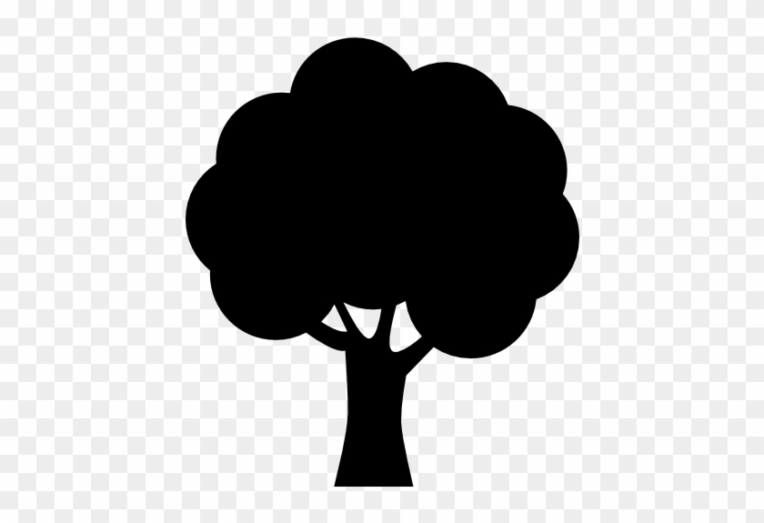 Free Nature Icons - Silhouette Of A Tree #1841