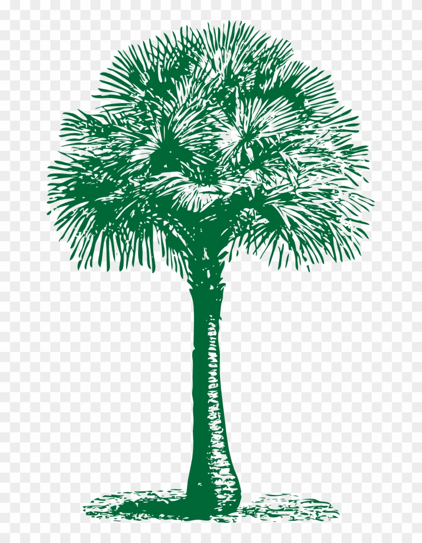 Onlinelabels Clip Art - Palm Tree Beach Towel #1881
