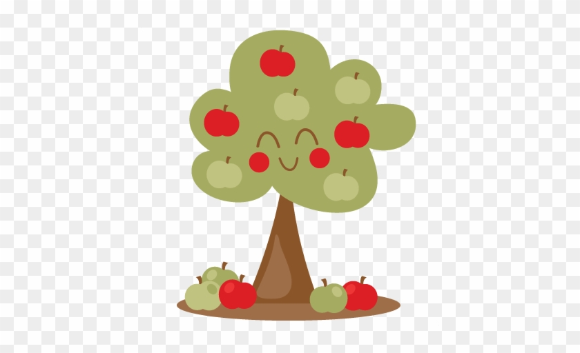 Apple Tree Svg Scrapbook Cut File Cute Clipart Files - Cute Apple Tree Clipart #1897