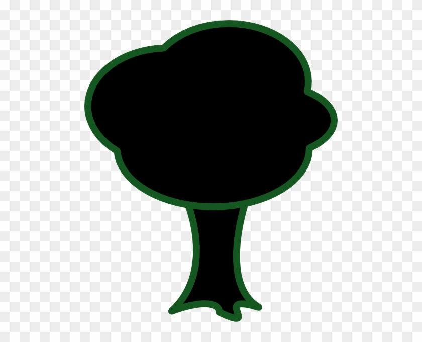 Black Tree Svg Clip Arts 504 X 600 Px - Black Tree Cartoon #1921