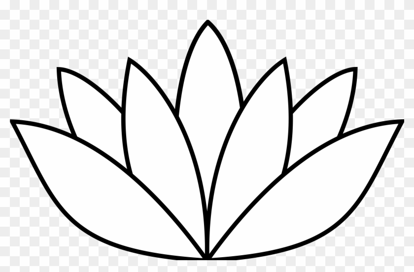 Lotus Flower Line Drawing Free Download Clip Art Clipart Lotus