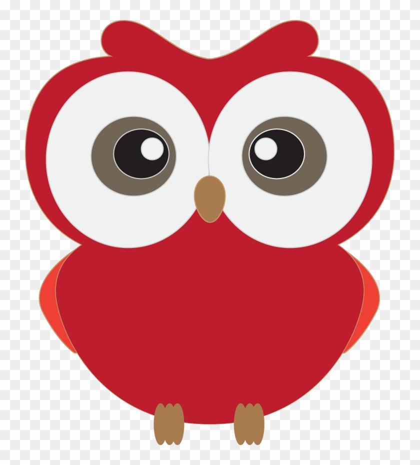Owls On Owl Clip Art Owl And Cartoon Owls 3 Clipartcow - Cute Owl Clipart Red #1958
