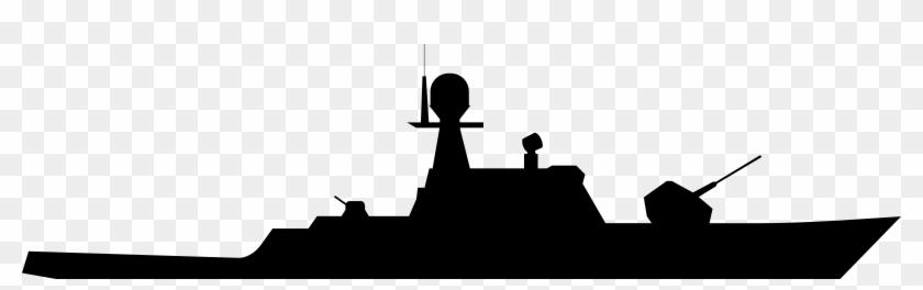 Military Ship Silhouette Clip Art Throughout Navy Ship - Navy Ship Clipart #1945