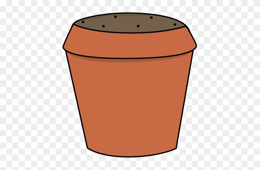 Dirt Filled Flower Pot - Empty Flower Pot Clipart #1983