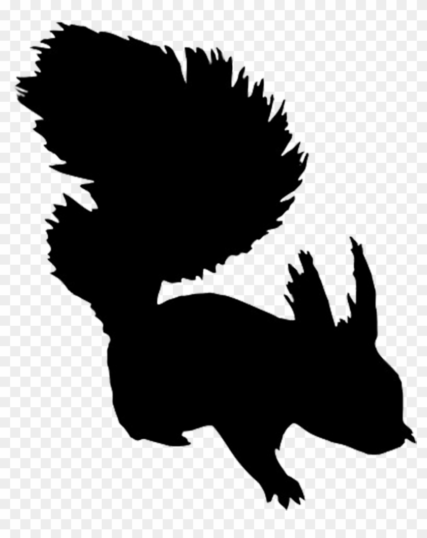 Silhouette Of Bear - Squirrel Silhouette Free Clip Art #1964