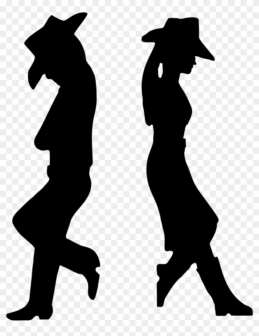 Clipart - Cowboy Silhouette Clipart #1968