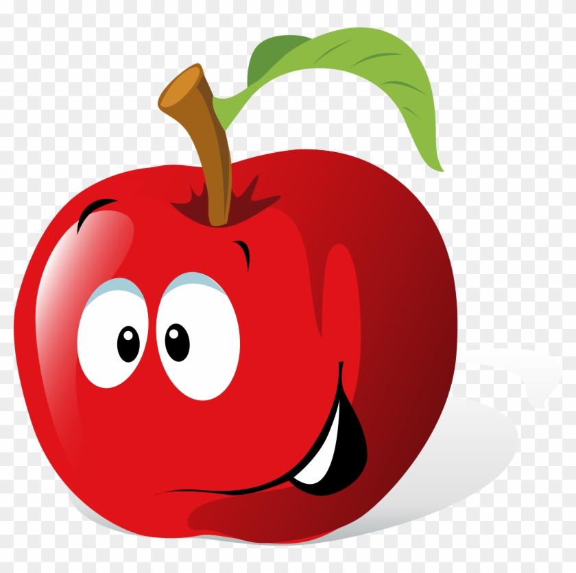 Cartoon Red Apple Clip Art At Clker Com Vector Online - Apple Clip Art #1998