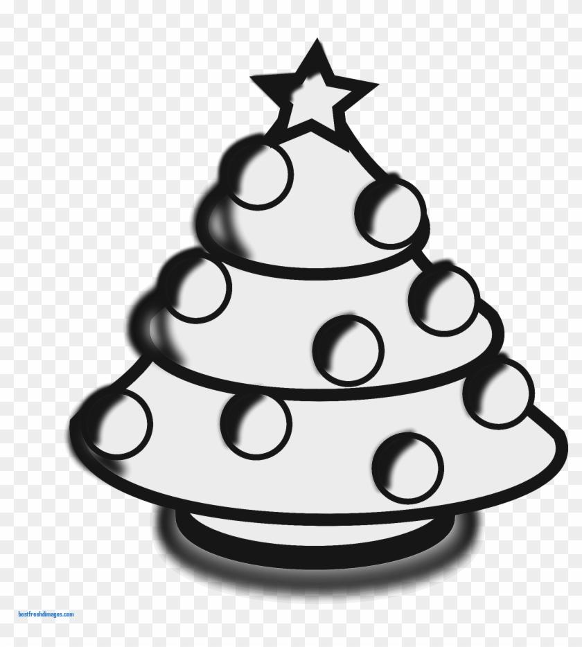 Lovely Christmas Tree Clip Art Black And White Hand - Clip Art #2000
