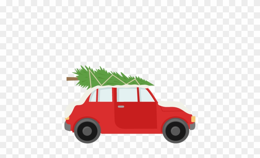 Car With Christmas Tree Svg Scrapbook Cut File Cute - Car With Christmas Tree On Top #1996