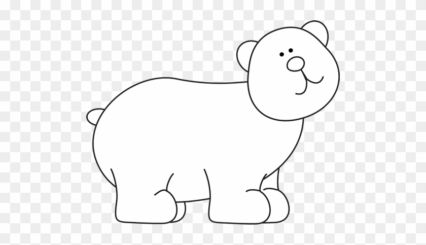 Black And White Bear - Black And White Bear Clip Art #1993