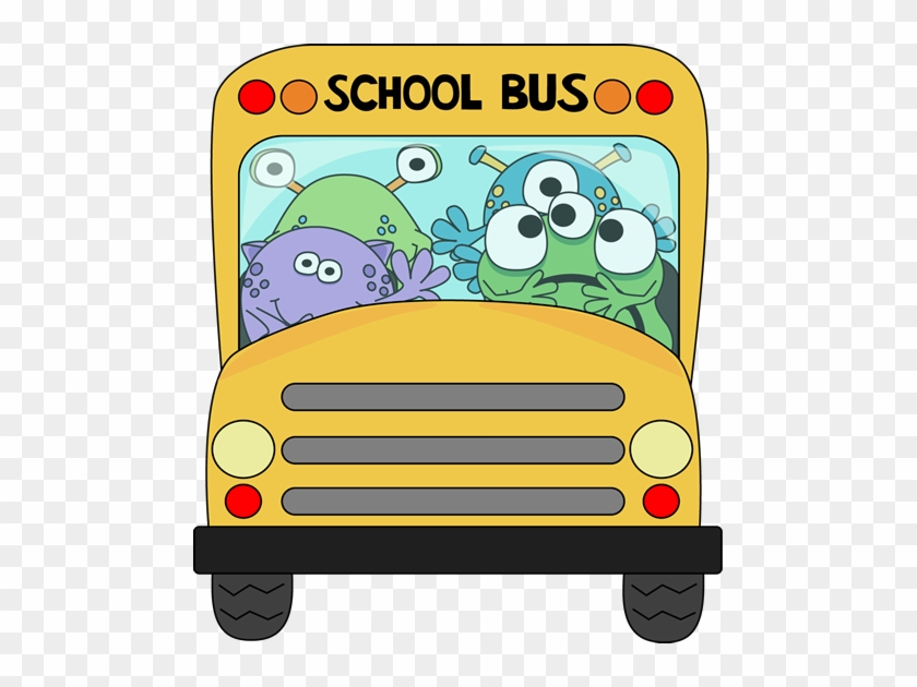 School Bus Clip Art Free Pictures - Monster On The Bus #2066