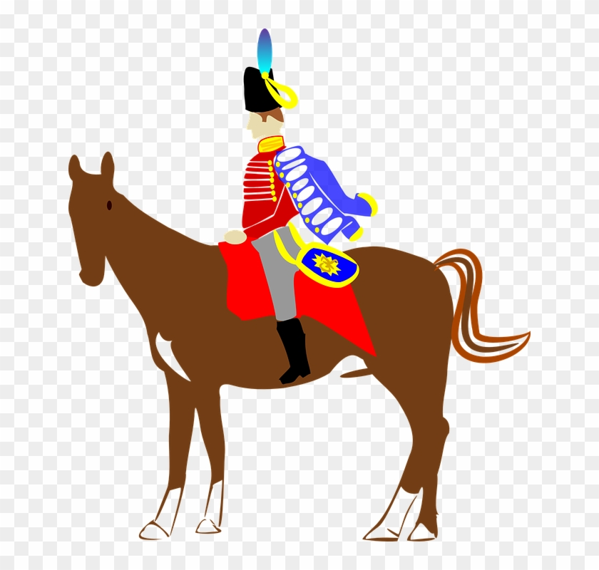 Military Horse - Soldier On A Horse #2059
