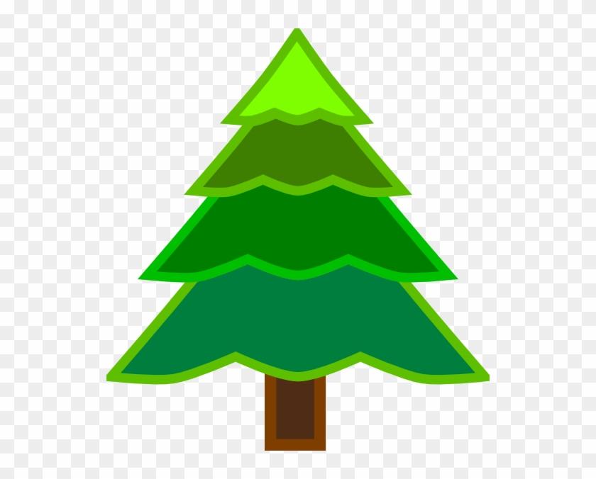 4 layer green fir tree clip art at clker クリスマス ツリー