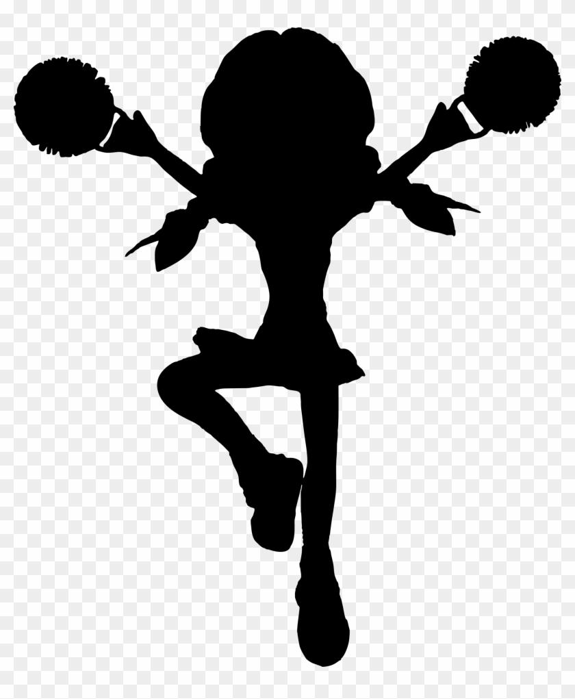 Cartoon Cheerleader Silhouette - Cheerleader Clip Art Transparent #2091