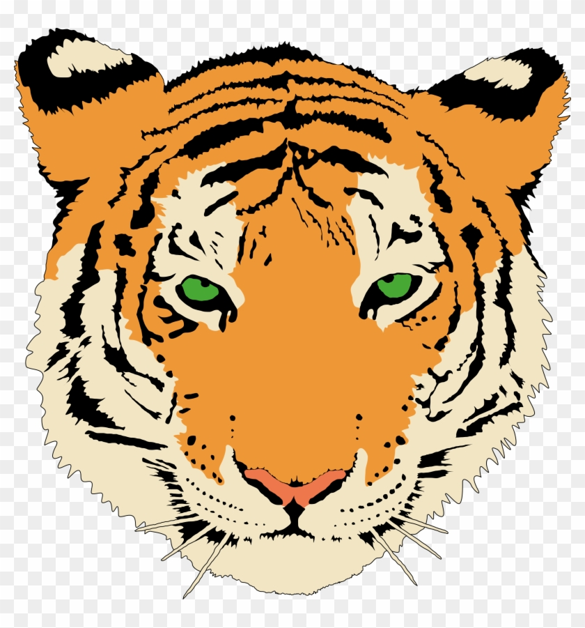Tiger By @anonymous, A Young Tiger's Head, On @openclipart - Sma N 1 Simo #2124