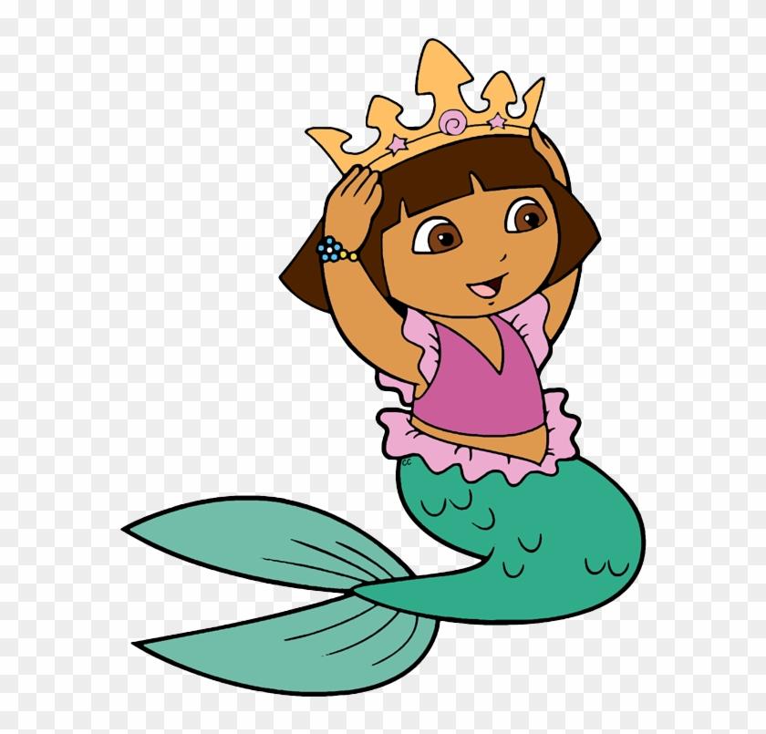Dora The Explorer Clip Art - Dora The Explorer Dora Mermaid #2134