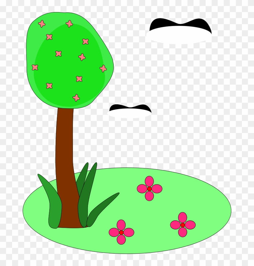 Trees And Flowers Cartoon #2145