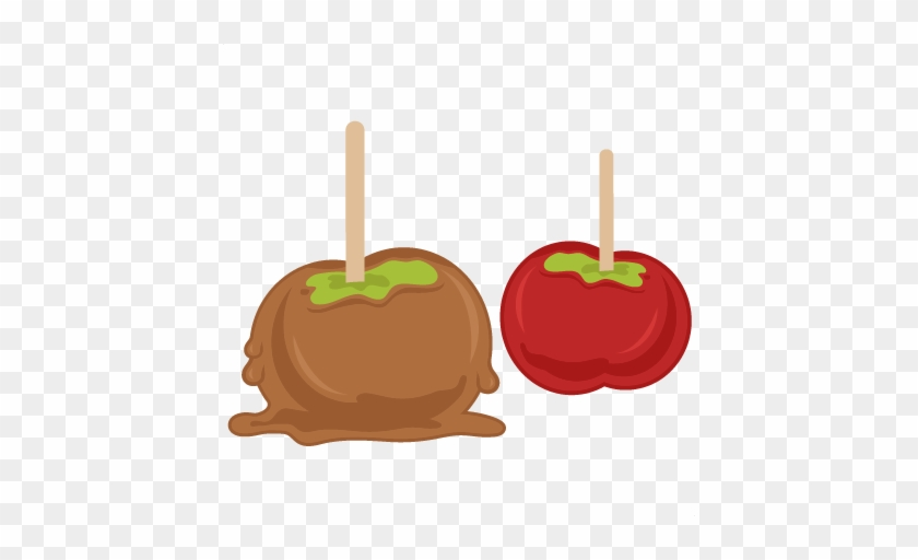 Candied Apples Svg Cutting Files For Scrapbooking Fall - Caramel Apple Clip Art #2161