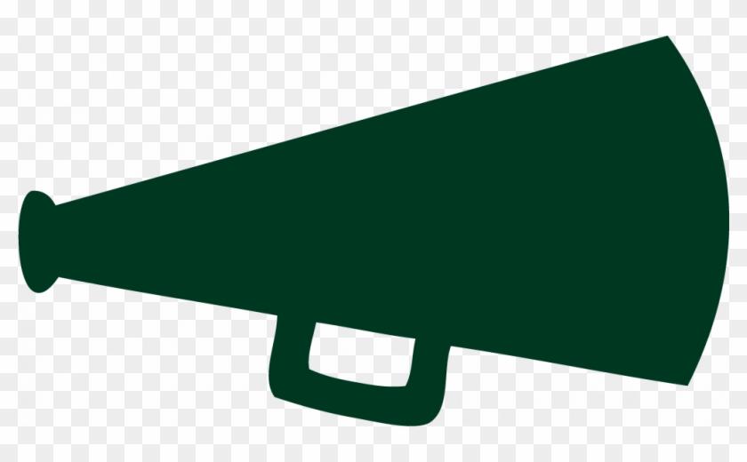Green - Megaphone - Clipart - Green Cheer Megaphone Clipart #2176