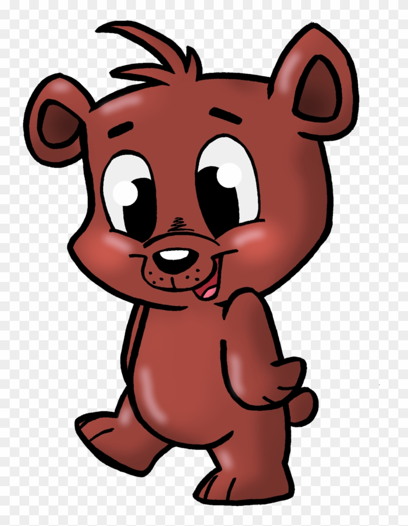 Black Bear Animated Clipart - Cute Bear Cub Cartoon #2182