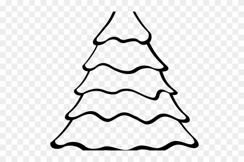 Christmas Tree Outline - Christmas Tree Drawing Easy #2165