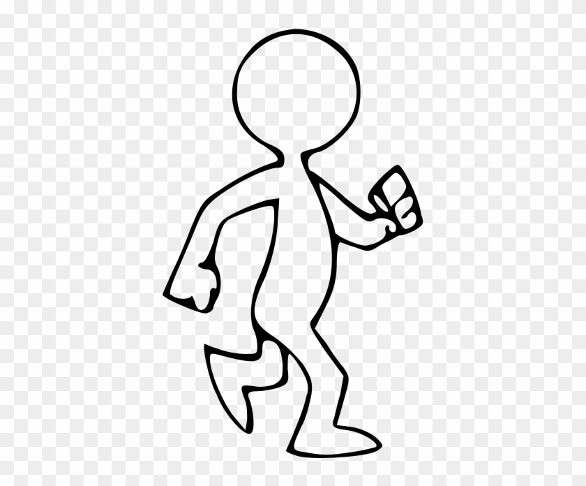 Person Walking Clip Art Black And White - Walking Clipart Black And White #2187