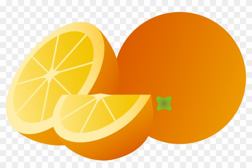Clipart Cartoon Orange Whole Half And Wedge Free Clip - Cartoon Images Of Orange #2228