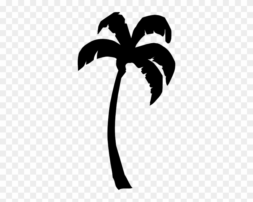 Palm Black Clip Art At Clker - Palm Tree Clipart Black And White #2230
