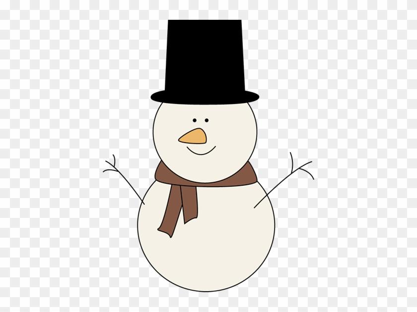 Classic Snowman Clip Art Image - Snowmen Clip Art #2238