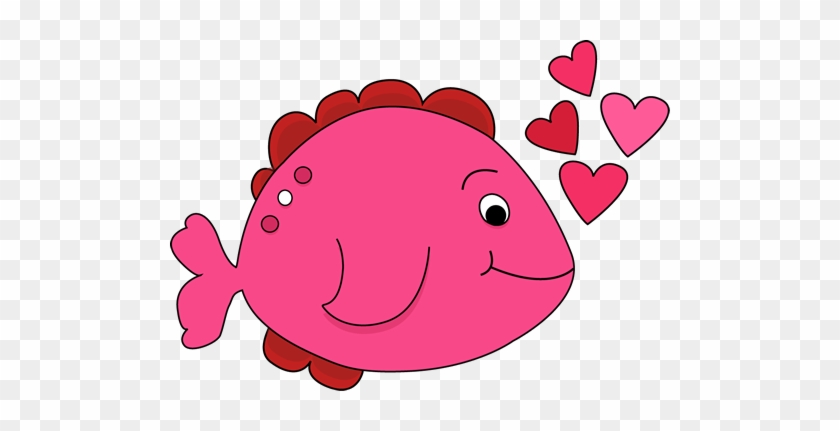 Cute Valentine\'s Day Fish Clip Art Cute Valentine\'s - Valentine Fish Clipart #2281