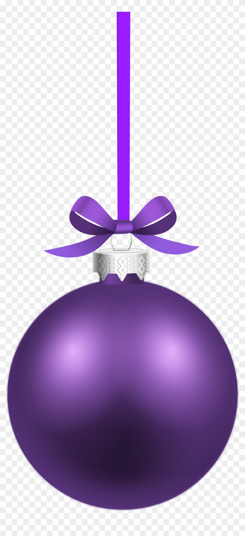 Purple Xmas Clip Art - Violet Christmas Ball #2284