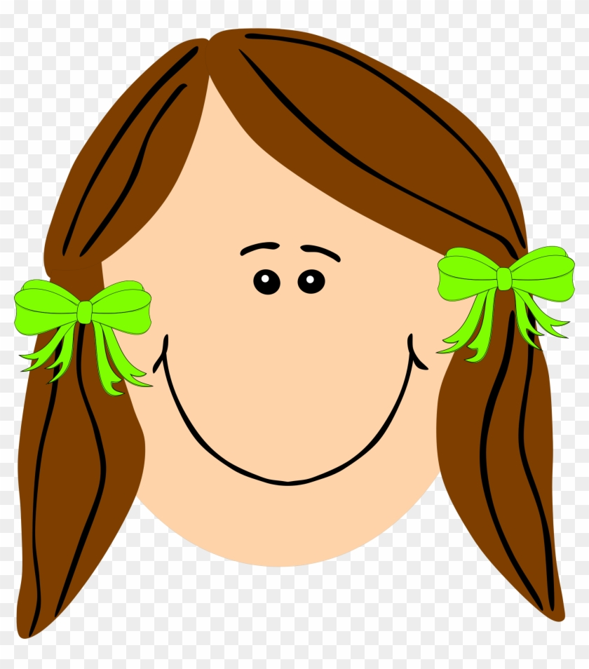 Clipart Of A Girl With Brown Hair Long - Sad Girl Face Cartoon #2305