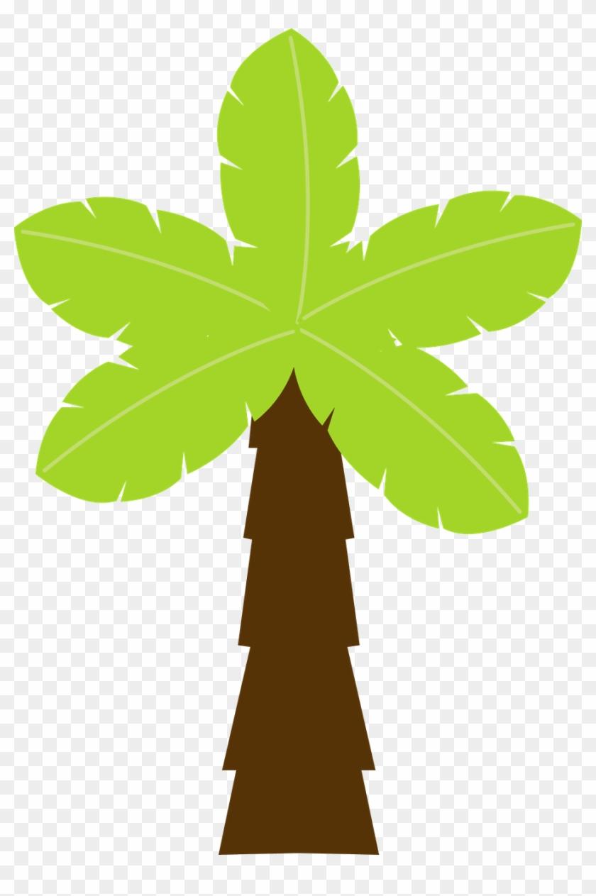 Trees ‿✿⁀°••○ - Coqueiro Safari Molde #2337